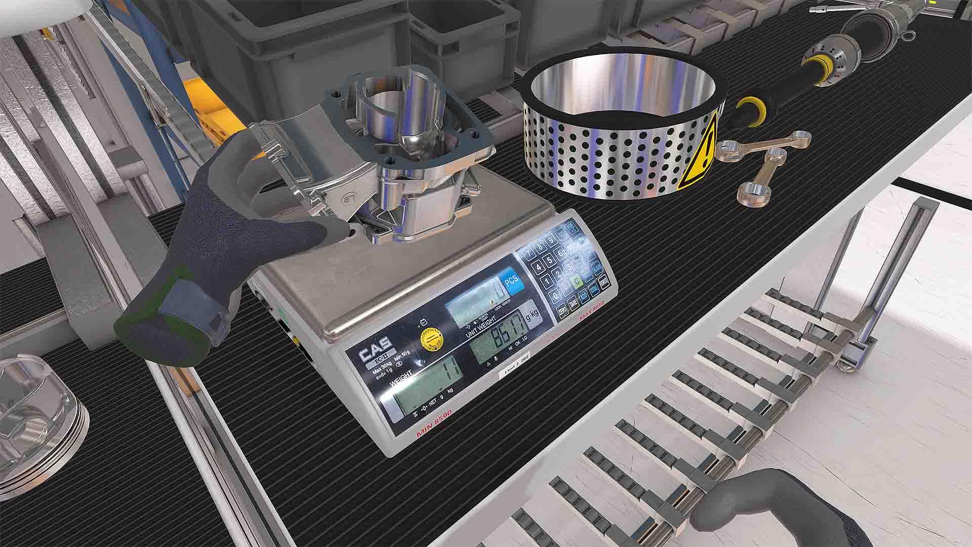 ROTAX VR-Assessment Zylinder mit Waage