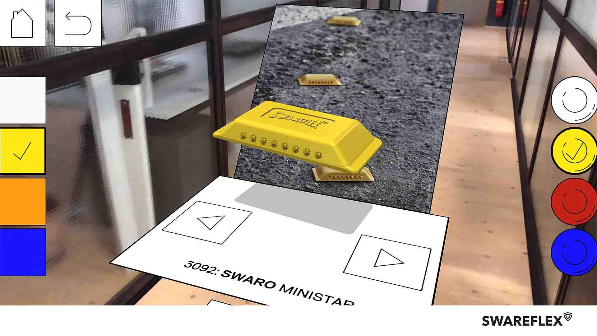 Swareflex AR Lenses Swaro Ministar Straßenmarkierung