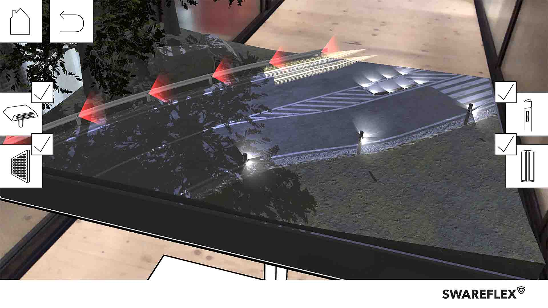 Swareflex AR Lenses Straßenreflektoren