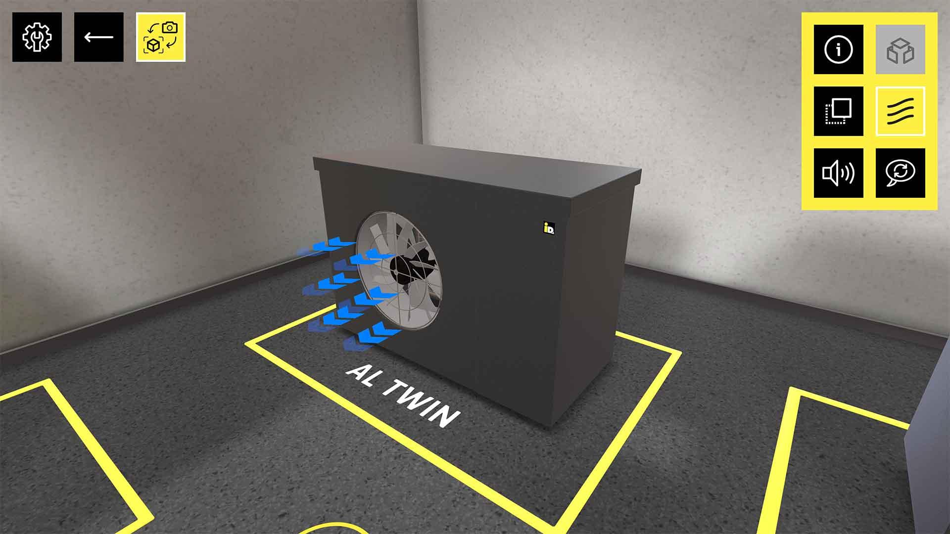 Im virtuellen Schauraum von iDM können Besucher sich frei im 3D Raum bewegen und mit den Produkten interagieren oder Zusatzinformationen einblenden.